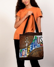 Indigenous leather pattern print All-over Tote aos-all-over-tote-lifestyle-front-06