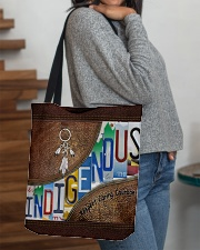 Indigenous leather pattern print All-over Tote aos-all-over-tote-lifestyle-front-09