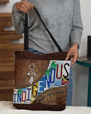 Indigenous leather pattern print All-over Tote aos-all-over-tote-lifestyle-front-10