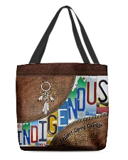 Indigenous leather pattern print All-over Tote front