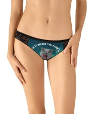 3D Printed Cat Lick It Before You Stick It  Women's Lace Panties aos-womens-lace-panty-lifestyle-front-10