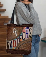 Rad Tech Leather pattern print All-over Tote aos-all-over-tote-lifestyle-front-09