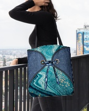 Sea Lover Jeans Pattern Print All-over Tote aos-all-over-tote-lifestyle-front-05