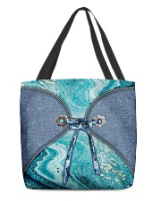 Sea Lover Jeans Pattern Print All-over Tote front