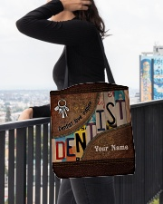 Custom Name Dentist Love Inspire All-over Tote aos-all-over-tote-lifestyle-front-05