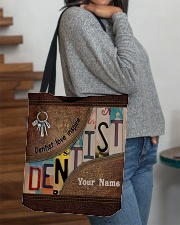 Custom Name Dentist Love Inspire All-over Tote aos-all-over-tote-lifestyle-front-09