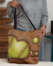 Eat Sleep Softball Repeat Leather Pattern Print  All-over Tote aos-all-over-tote-lifestyle-front-10