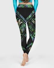 Green Hummingbird High Waist Leggings aos-high-waist-leggings-lifestyle-06