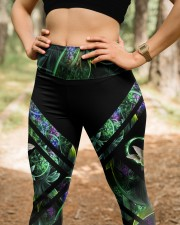 Green Hummingbird High Waist Leggings aos-high-waist-leggings-lifestyle-22
