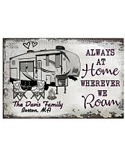 Personalized Camping Sketch 5Th Wheel Always 17x11 Poster front
