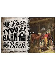 I Love You To The Barn 17x11 Poster front