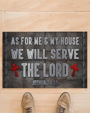 """Jesus Me My House Serve The Lord  Doormat 22.5"""" x 15""""  aos-doormat-22-5x15-lifestyle-front-02"""