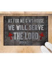 """Jesus Me My House Serve The Lord  Doormat 22.5"""" x 15""""  aos-doormat-22-5x15-lifestyle-front-05"""