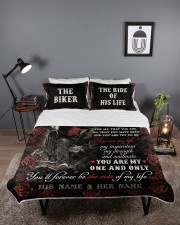 Personalized Motorcycling I Want You Today Queen Quilt Bed Set aos-queen-quilt-bed-set-lifestyle-front-03