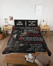 Personalized Motorcycling I Want You Today Queen Quilt Bed Set aos-queen-quilt-bed-set-lifestyle-front-04
