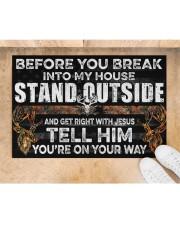 "Hunting Jesus Before You Break Into My House  Doormat 22.5"" x 15""  aos-doormat-22-5x15-lifestyle-front-05"