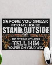 "Hunting Jesus Before You Break Into My House  Doormat 22.5"" x 15""  aos-doormat-22-5x15-lifestyle-front-06"