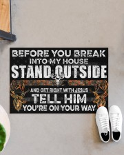 "Hunting Jesus Before You Break Into My House  Doormat 22.5"" x 15""  aos-doormat-22-5x15-lifestyle-front-07"