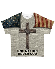 One Nation Under God All-over T-Shirt front