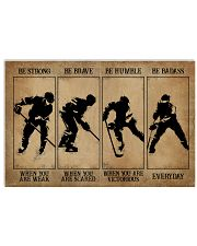 Strong When You Are Weak Hockey 17x11 Poster front
