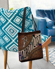 Hairstylist love inspire All-over Tote aos-all-over-tote-lifestyle-front-01