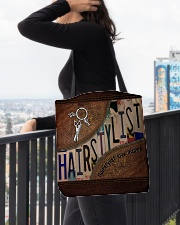 Hairstylist love inspire All-over Tote aos-all-over-tote-lifestyle-front-05