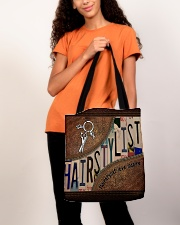 Hairstylist love inspire All-over Tote aos-all-over-tote-lifestyle-front-06