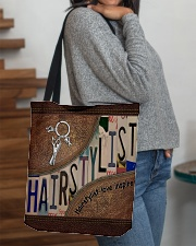 Hairstylist love inspire All-over Tote aos-all-over-tote-lifestyle-front-09