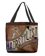 Hairstylist love inspire All-over Tote front