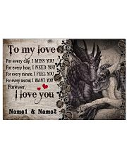 Forever I Love You Personalize 17x11 Poster front