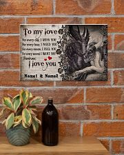 Forever I Love You Personalize 17x11 Poster poster-landscape-17x11-lifestyle-23