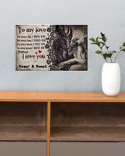 Forever I Love You Personalize 17x11 Poster poster-landscape-17x11-lifestyle-24
