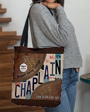 Custom Name Chaplain Respect Caring Courage All O All-over Tote aos-all-over-tote-lifestyle-front-09