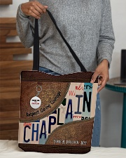 Custom Name Chaplain Respect Caring Courage All O All-over Tote aos-all-over-tote-lifestyle-front-10