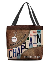 Custom Name Chaplain Respect Caring Courage All O All-over Tote front