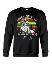 Raising an autistic child shirt Crewneck Sweatshirt thumbnail
