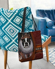 Bulldog Lady 1 All-over Tote aos-all-over-tote-lifestyle-front-01