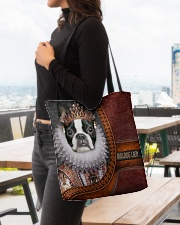 Bulldog Lady 1 All-over Tote aos-all-over-tote-lifestyle-front-04