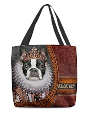 Bulldog Lady 1 All-over Tote back