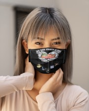 No one fight alone Cloth face mask aos-face-mask-lifestyle-18