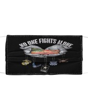 No one fight alone Cloth face mask front
