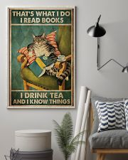 I Read Book - Drink Tea 11x17 Poster lifestyle-poster-1