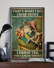 I Read Book - Drink Tea 11x17 Poster lifestyle-poster-2