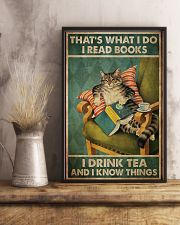 I Read Book - Drink Tea 11x17 Poster lifestyle-poster-3