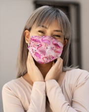 Flamingo Face Mask 21 Cloth face mask aos-face-mask-lifestyle-17