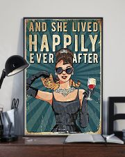 And She Lived Happily Cat 11x17 Poster lifestyle-poster-2