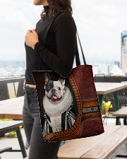 Bulldog Lady 3 All-over Tote aos-all-over-tote-lifestyle-front-04