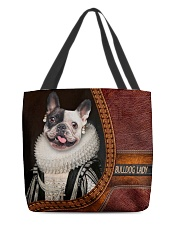 Bulldog Lady 3 All-over Tote back