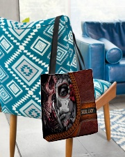 Skull Lady All-over Tote aos-all-over-tote-lifestyle-front-01