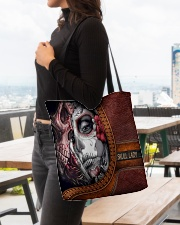 Skull Lady All-over Tote aos-all-over-tote-lifestyle-front-04